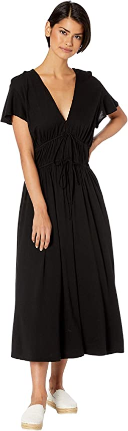 Dhalia Ultra Jersey Tie Front Dress