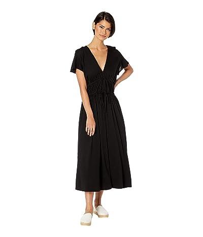 Michael Stars Dhalia Ultra Jersey Tie Front Dress (Black) Women