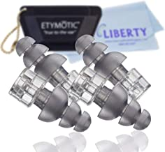 Etymotic High-Fidelity Earplugs ER20XS (2 Pairs, Standard Fit, Frost Color) - High Fidelity Noise Reduction - Includes Car...