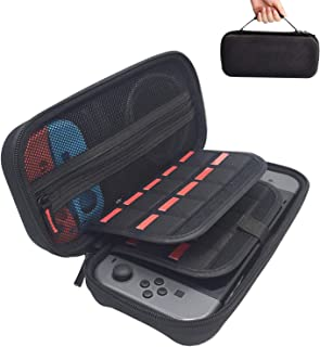 Switch Carrying Case compatible with Nintendo Switch - 20 Game Cartridges Protective Hard Shell Travel Carrying Case Pouch...