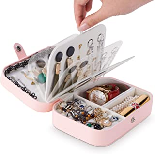 CHEELOM (Nuevo modelo 2021) organizador joyeriaJoyería joyería caja de almacenamiento portátil viaje pequeño con producto...