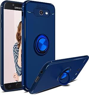 Galaxy J7 Sky Pro Case, Galaxy Halo, J7 Perx, J7 V Case, Elegant Choise Hybrid Slim Durable Soft TPU 360 Degree Rotating Ring Holder Kickstand Protective Case with Magnetic for Samsung J7 2017 (Blue)