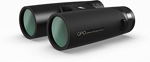GPO German Precision Optics Passion ED 8x42 Binoculars, Lightweight Magnesium, Tripod Compatible (Black)