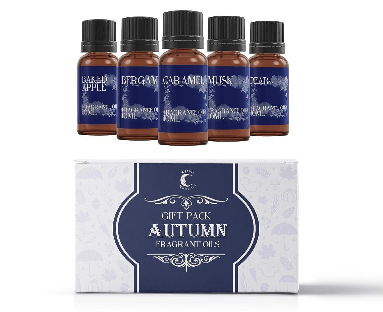 家禽翻訳代理人Mystic Moments | Fragrant Oil Starter Pack - Autumn Oils - 5 x 10ml