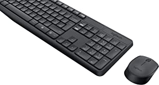 Logitech MK235 Wireless Keyboard and Mouse Combo for Windows, 2.4 GHz Wireless with Unifying USB-Receiver, Wireless Mouse,...