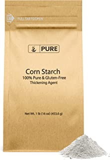 PURE Corn Starch (1 lb.), Thickener For Sauces, Soup, & Gravy, Highest Quality, Food Grade, Vegan, Gluten-Free, Eco-Friend...