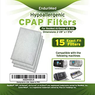 CPAP Air Filter (15 CPAP Filters Pack) – Premium Ultra Fine Hypoallergenic Disposable Replacement Filters for CPAP Machines – 15 Fully Compatible High Quality Foam Filters Plus 2 Wipes Travel Packs