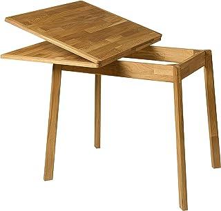 NordicStory Mini 2 Table de salle à manger extensible 100 % chêne massif Style nordique ou scandinave Pour salon 4 à 6 per...