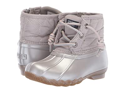 Sperry Kids Saltwater Boot (Toddler/Little Kid) (Gull Grey Synthetic) Kids Shoes
