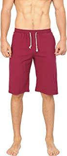 WULFUL Men's Casual Classic Fit Shorts Drawstring Summer Beach Linen Shorts