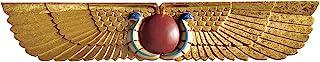 Design Toscano NG32428 Tempio Egizio Scultorea Parete Frontone, 5x101.5x19 cm