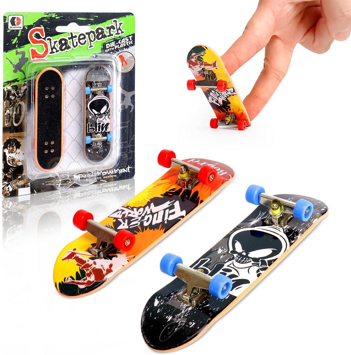 Finger Skateboard for Kids KETIEE 2 Kit Mini Skateboard Finger B