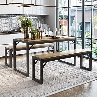 Amolife 3 Pcs Kitchen Dining Room Furniture, Metal Frame...