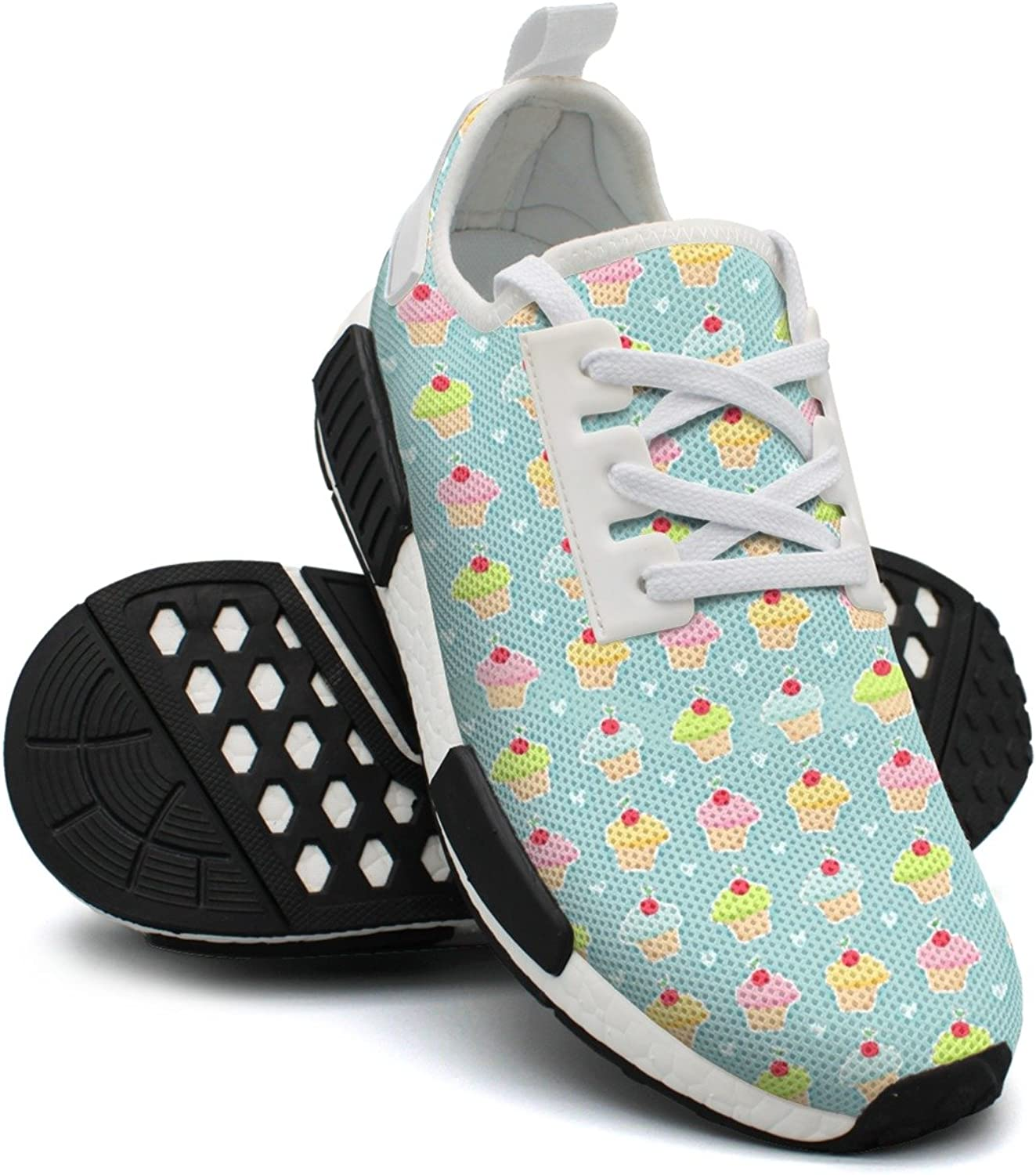 Cupcakes and Hearts Women's Exclusive Lightweight Volleyball Sneakers Gym Outdoor Running shoes