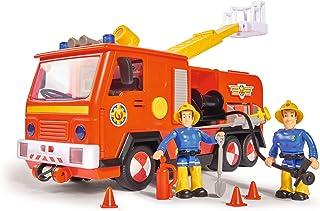 Simba 109251036 Sam Jupiter Brandweerauto 2.0, Met Sam En Elvis Figuur, Met Licht En Geluid, Met Uitschuifbare Ladder En Z...