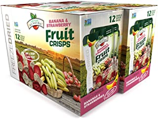 Brothers-ALL-Natural Fruit Crisps, Strawberry Banana, 0.42 oz (Pack of 24)