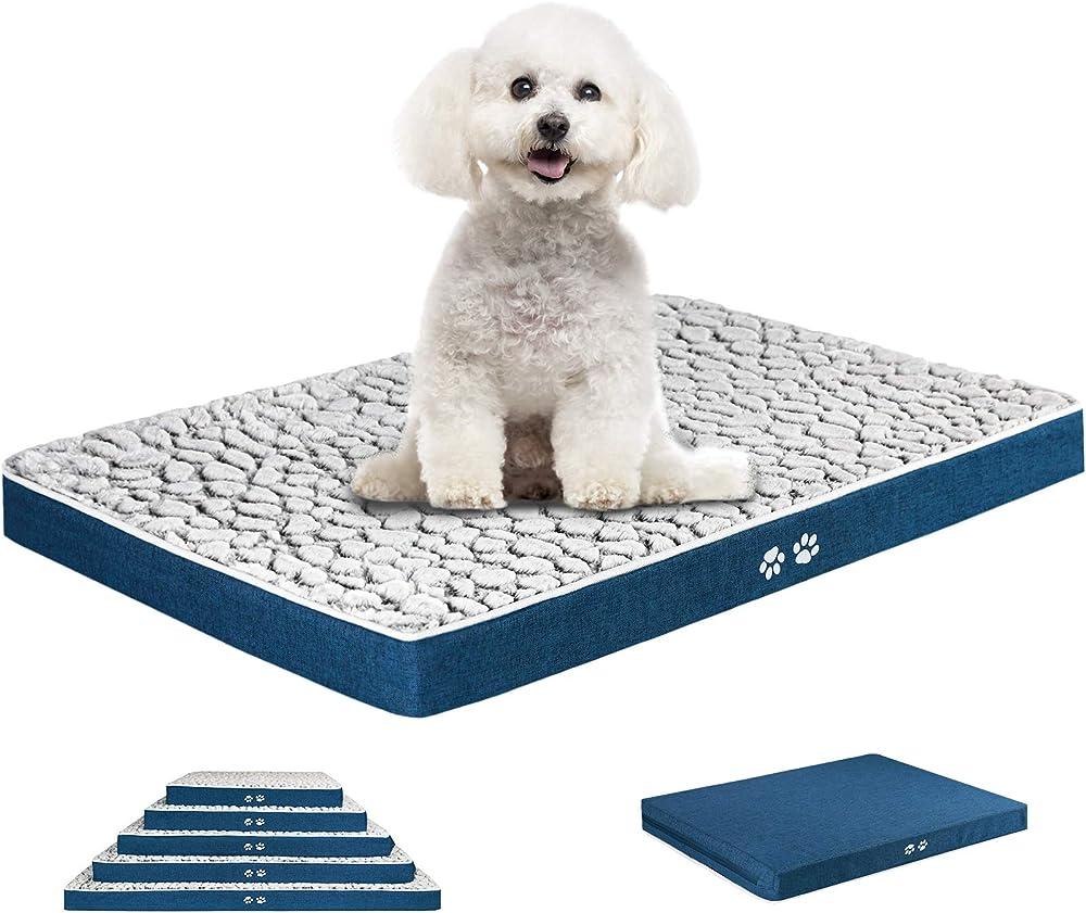 Kroser, letto per cani, in morbido peluche auto-riscaldante, lavabile, taglia S, 61cm x 46cm x 7,6cm