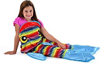 Snuggie Tails Rainbow Fish Comfy, Cozy, Super Soft, Warm, All Season, Wearable Blanket for Kids, As Seen on TV