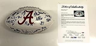 2012 Alabama Crimson Tide Team Signed Football Loa Eddie Lacy +28 W08108 - PSA/DNA Certified - 5