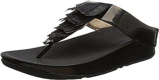 Metallic Cha Fringe Toe-Thong Sandals, Sandalias de Dedo del pie para Mujer