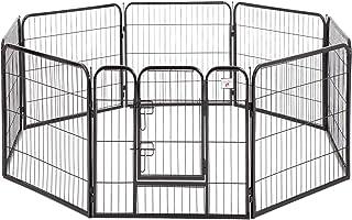 BestPet Pet Playpen Dog Kennel 8 Panel Indoor Outdoor Folding Metal Protable Puppy..