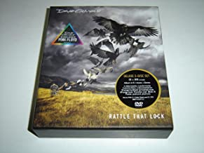 """David Gilmour: Rattle That Lock – The Voice & Guitar of Pink Floyd / Deluxe CD + DVD Set with 32-page Hardback Lyric/Photo Book, 48-page book """"Paradise Lost"""", Poster, Postcard and Plectrum"""