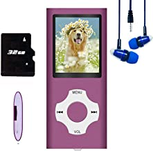 $23 » MP3 Player / MP4 Player, Hotechs MP3 Music Player with 32GB Memory SD Card Slim Classic Digital LCD 1.82'' Screen Mini USB...