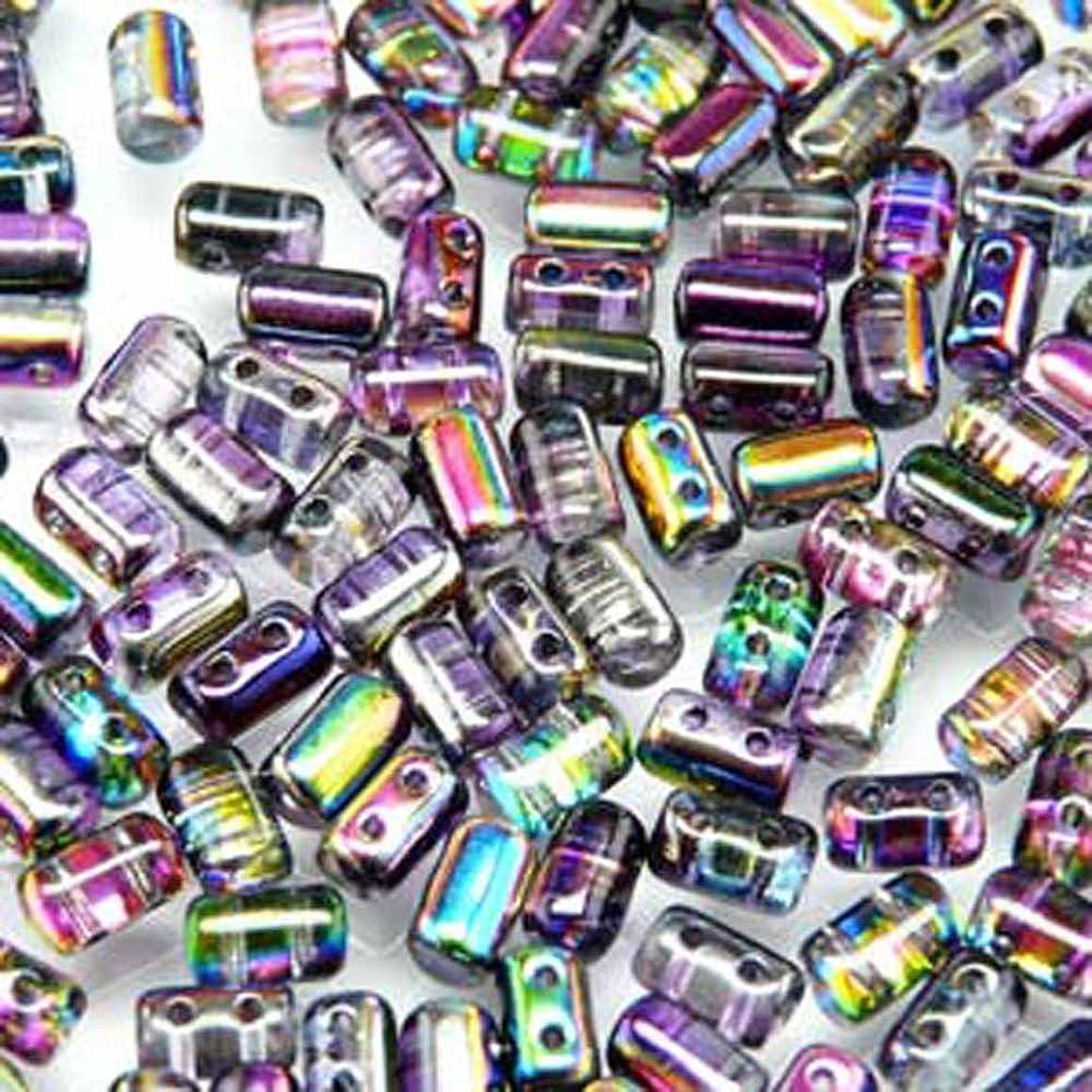 Czech Rulla Beads 22 Grams 3 x 5mm MAGIC VIOLET GREY