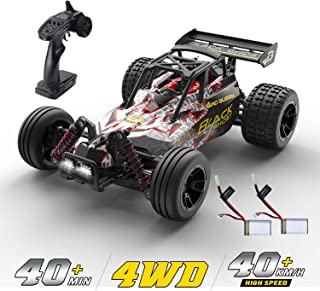 DEERC RC Cars High Speed Remote Control Car for Adults Kids Boys,1:18 Scale 25+ MPH 4WD All Terrain Off Road Monster Trucks,2.4GHz Rally Buggy Toy Gifts with 2 Rechargeable Batteries for 40+ Min Play