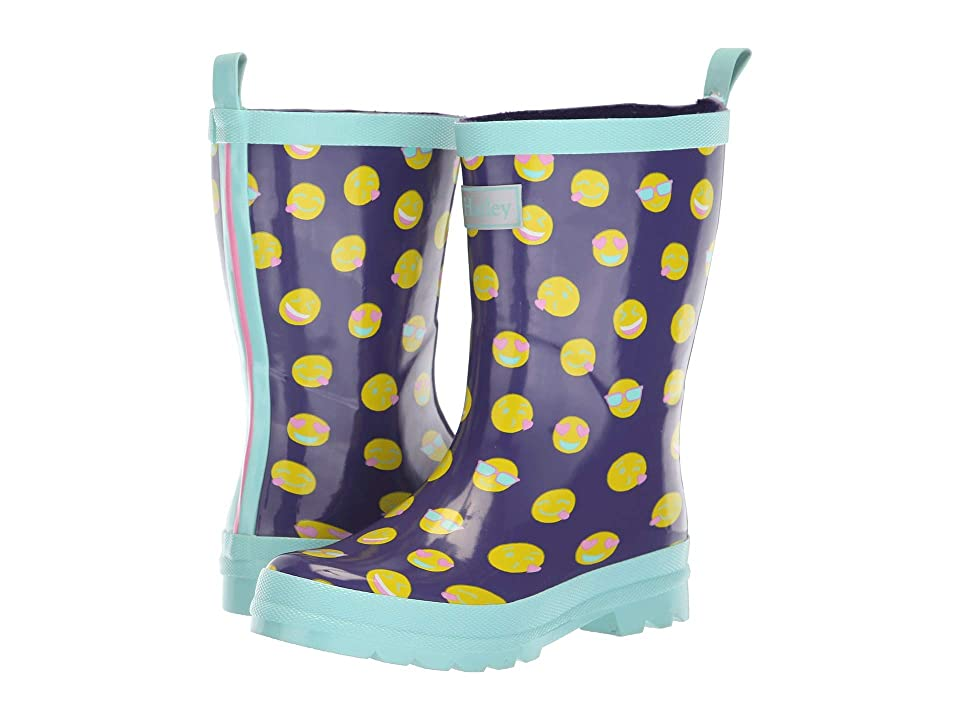 Hatley Kids Limited Edition Rain Boots (Toddler/Little Kid) (Emojis Navy/Teal) Girls Shoes