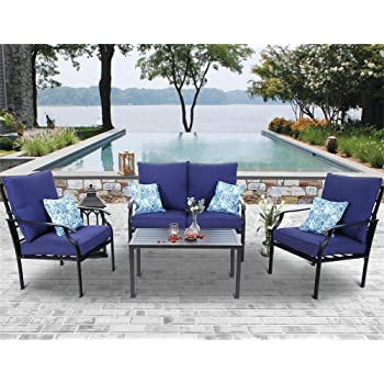 Amazon.com: ovios 4 PCs Patio Furniture Sets All Weather Water