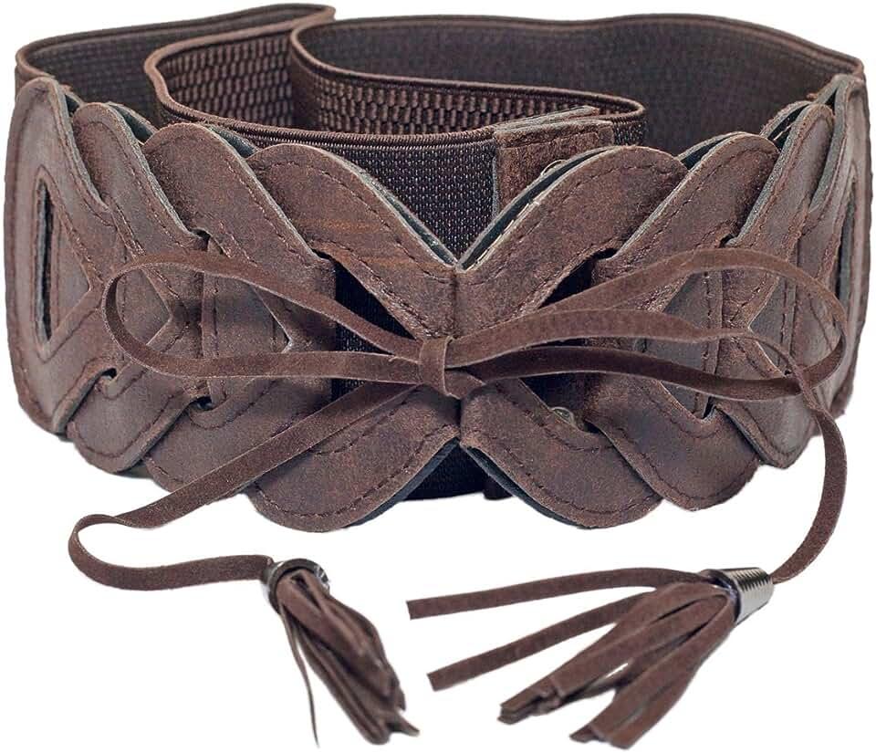 eVogues Plus Size Braided Look Elastic Fashion Belt