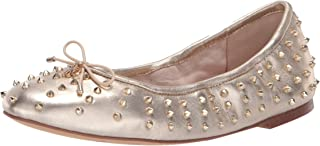 Womens Fanley Leather Studded Ballet Flats