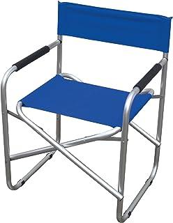 Biacchi Gianfranco S1622027 - Silla de camping (Azul, Aluminio, PVC, Aluminio, 570 mm, 470 mm, 790 mm)