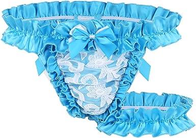 White Satin Flutter Thong panties