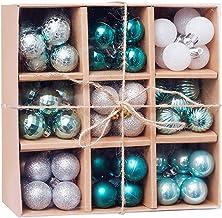 FEIlei Ornamentos de árvore de Natal, 1 caixa de 3 cm/99 peças de bolas de Natal ornamentos de festa de Natal decoração de...
