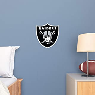 FATHEAD NFL Oakland Raiders - Logo Teammate- Officially Licensed Removable Wall Decal, Multicolor, Large - 89-03361