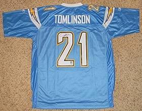 LaDainian Tomlinson Autographed Jersey - Reebok Premier Powder Blue - Autographed NFL Jerseys