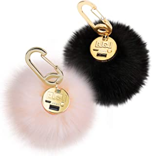 fluffy keychain charger