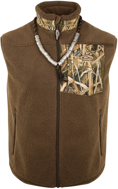 DRAKE MST Sherpa Fleece Hybrid Liner Vest, color  Blades, Size  XLarge (DW86200134)