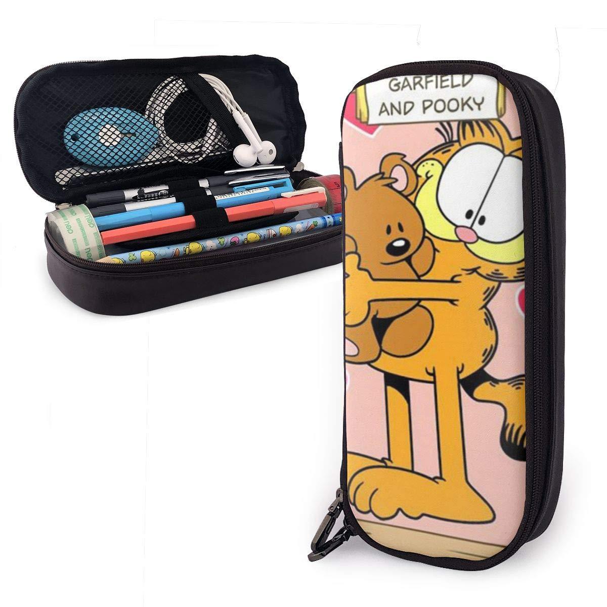 Garfield and Pooky - Estuche para lápices (doble cremallera, poliuretano): Amazon.es: Oficina y papelería