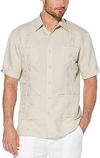 Men's Short Sleeve Embroidered Guayabera Shirt