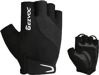 GEZVOC Cycling Gloves Bike Gloves Biking Gloves Bicycle Gloves for Men Women Half Finger Breathable Non-Slip Shock-Absorbing