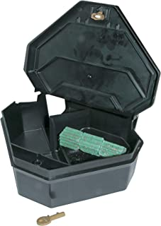 JT Eaton 904 Gold Key Rat Depot Plastic Heavy Duty Tamper Resistant Bait Station with Solid Lid, 11-3/8