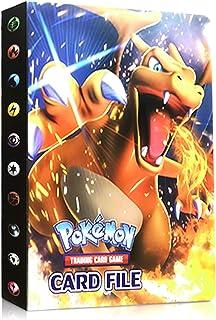Funmo Pokémon Carte Album, Pokémon Cartes Titulaire Pokémon classeur pour Cartes Album Porte Cartes Pokemon Album Capacité...