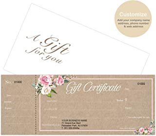 fillable christmas gift certificate