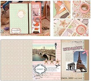 """Rose Orange Vert clair Or Album de Scrapbooking Kit de Réminiscence de 23 cm x 22,5 cm 9"""""""