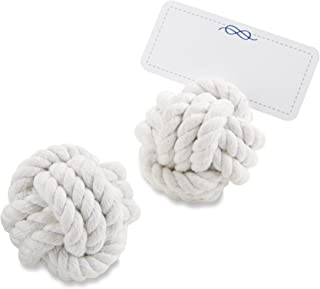 Kate Aspen Nautical Cotton Rope Place Card Holder, Wedding Decorations, Party Favor, Photo Holder, Pack of 6