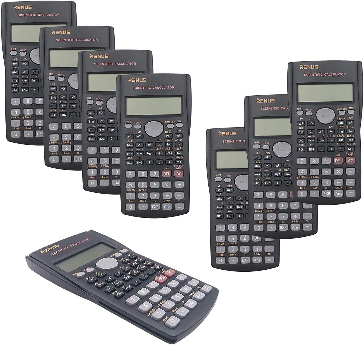 RENUS 8 Packs 2-Line Engineering Calculator San Francisco Mall Scientific Function Limited price sale