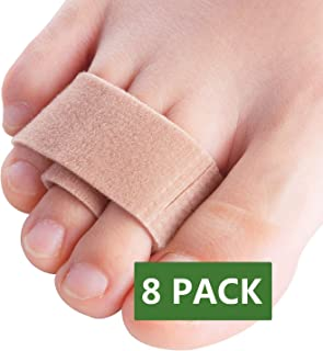 Povihome Hammer Toe Straightener Tapes, 8 Pack Toe Wraps Splint to Realign Hammer Toe, Overlapping Toe & Crooked Toes